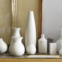 Pure White Ceramic Vases | west elm