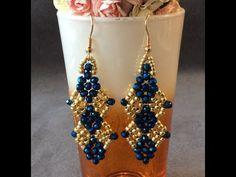 (1) Orecchini Veronica - YouTube Beaded Earrings Patterns, Beaded Jewelry Designs, Bead Jewellery, Seed Bead Jewelry, Seed Bead Earrings, Jewelry Patterns, Beading Patterns, Earring Tutorial, Beading Tutorials