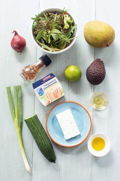 De perfecte zomer salade met tonijn en mango + winactie - Leuke recepten Get Healthy, Healthy Recipes, Sprouts, Bbq, Food And Drink, Pasta, Vegetables, Barbecue, Barrel Smoker