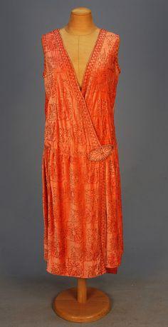 PARIS LABEL BEADED VELVET DRESS, 1920's Mannequin Gowns Paris