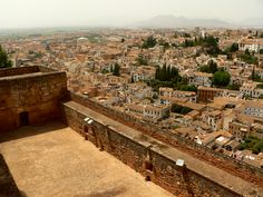 View of Albayzin from the Alhambra.  Granada, Spain