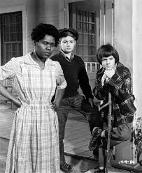 In this picture, Calpurnia is with Jem and Scout. You can clearly see their personalities . Jem seems curious, Calpurnia looks troubled, and Scout looks almost bored. Great Movies, Great Books, Mocking Birds, Literary Elements, Literary Terms, Atticus Finch, Cinema, Harper Lee, Cult