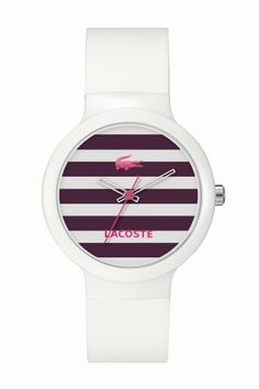Lacoste watch!  Love the stripes.