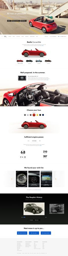 Volkswagen Website Redesign on Web Design Served Website Design Inspiration, Website Design Layout, Web Layout, Layout Design, Volkswagen, Design Transport, Pag Web, Interactive Design, Page Design