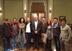 John Rodgers,Dean Devlin and the cast of The Librarians Added by Kidsunday John Kim, John Larroquette, Lindy Booth, Noah Wyle, Lisa Edelstein, Christian Kane, Beautiful Blue Eyes, Tv Show Quotes, Scene Photo