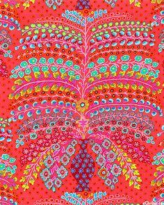 Cascade in Flame  from 'Persian Vase' by Kaffe Fassett for Rowan Fabrics.
