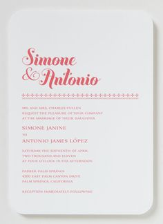 Bella Wedding Invitation - Modern Wedding Invitation