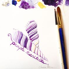 Marvelously violet in hue, here is the Purple Turritella shell! I love these colors! ❤️ Copyright Amalia Hillmann