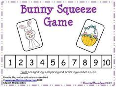 Freebie~This adorable bunny will help your students practice recognizing, comparing and ordering numbers 1-30!