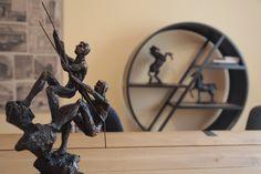 Meeting Room Details, circular library, art, mudo concept sculpture