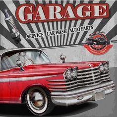 Vintage car poster grunge style vector 02