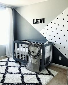 baby boy nursery room ideas 143130094394931421 - evi's Monochrome Zoo Nursery 🦁 Zoo Nursery, Baby Nursery Decor, Nursery Room, Kids Bedroom, Baby Boy Bedroom Ideas, Boy Sports Bedroom, Bedroom Tv Wall, Modern Nursery Decor, Bedroom Decor