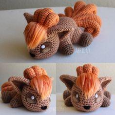 Vulpix by - Amigurumi Pokemon Crochet Pattern, Crochet Patterns Amigurumi, Amigurumi Doll, Crochet Dolls, Cute Crochet, Crochet Crafts, Yarn Crafts, Crochet Projects, Tsumtsum