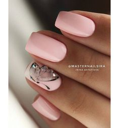 45 types of makeup nails art nailart 27 Nageldesign Hochzeit 45 types of makeup nails art nailart 27 Nageldesign Hochzeit Elegant Nails, Stylish Nails, Pink Nails, Toe Nails, Mauve Nails, Nail Nail, Glitter Nails, Bright Summer Nails, Nagel Hacks