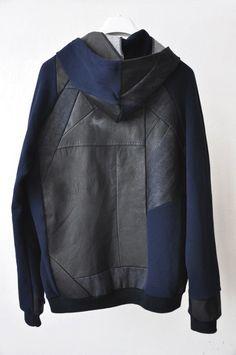 Это одни из самых интересных переделок джинсовых и кожаных курток в худи,