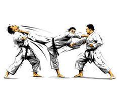 karate action 10 - Acquista questo vettoriale stock ed esplora vettoriali simili in Adobe Stock | Adobe Stock Karate Kata, Shotokan Karate, Martial Arts Techniques, Picture Collection, Taekwondo, Kung Fu, Action, Artwork, Adobe