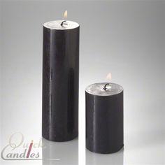 Pillar Candles x Black Candles, Tea Light Candles, Votive Candles, Tea Lights, Black Sails
