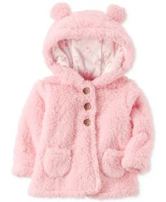 Carter's Hooded Fleece Jacket, Baby Girls (0-24 months)