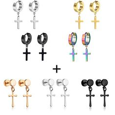 Ear Jewelry, Cute Jewelry, Body Jewelry, Kpop Earrings, Cuff Earrings, Industrial Piercing Jewelry, Guys Ear Piercings, Grunge Jewelry, Men Accessories