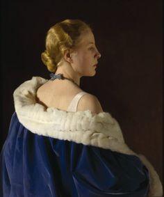 "mercuruniverse: "" loumargi: "" Sir Gerald Festus Kelly (1879-1972)Lady in Blue (Jane his wife) "" loumargi's blog is a treasure chest! """