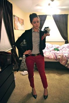 Red trousers appropriate for a business casual office?