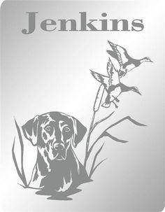 "Labrador Hunting Dog Custom Personalized Etched Bar Mirror Pub Signs Man Cave Decor 20"" x 16"""