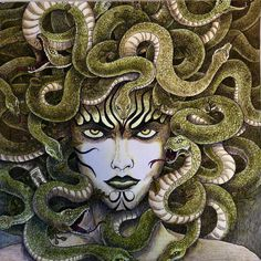 "90 Likes, 8 Comments - Agnes Sowle (@agnessowle) on Instagram: ""#mythomorphia #gorgon #kerbyrosanes #coloredpencil #adultcoloringbook"""