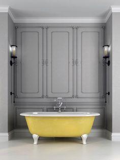 You marathoned this tub on HBO GO. 27 Gorgeous Bathtubs That Will Make You Join The Bath Fandom Gorgeous Bathroom, Bathtub Remodel, Baby Bath Tub, Free Standing Bath Tub, Yellow Bathrooms, Bathtub Design, Bathrooms Remodel, Bathtub, Yellow Baths