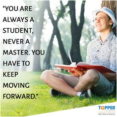 """You are always a student, never a master. You have to keep moving forward."" ~ #ConradHall 