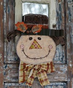 Another great find on #zulily! Autumn Scarecrow Door Décor #zulilyfinds
