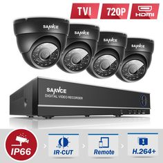 114.79$  Buy here - http://aliv5s.shopchina.info/go.php?t=32748796045 - SANNCE 8CH HD 1080P DVR CCTV System 4pcs 720P TVI Security Cameras IR Indoor Outdoor 8 Channels video Surveillance diy kit  #buychinaproducts
