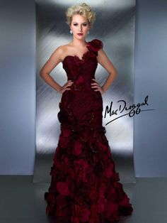 80108D | Mac Duggal  LOVE IT! want for the military ball. the blue is gorgeous too.