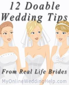 12 Doable Wedding Tips From Real Brides