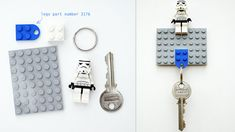 Make a Cool DIY Lego Key Holder.  We have tons of Lego left from 2 sons who have outgrown it.  My turn to play!