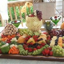 Wedding Fruit Display Ideas adapted from Nita's Free Lessons