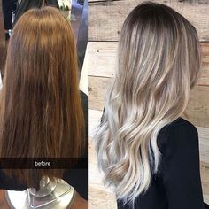 Transformations like this take time, but they're worth it!  @voguehair got her client from a rusty brown to ashy blonde perfection the healthy way using Olaplex with Blonde Me and 30 vol, then Igora Vibrance to tone. #olaplex #blonde #ashyblonde #balayage #transformation #hairgoals