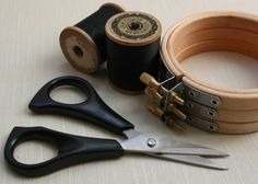 These small embroidery scissors are sharp edged and comfortable to use, handy for trimming your straggly thread ends.