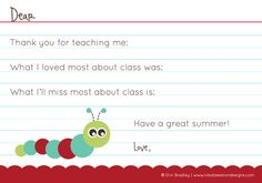 End of school year fill-in-the-blank thank you for teacher...free printable