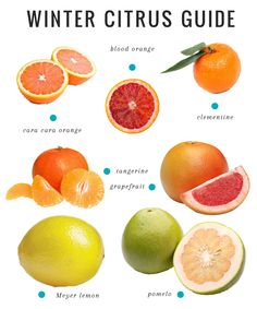 Cranberry Tangerine Smoothie   A Guide to Winter Citrus from Henry Happened, also includes information about each kind of citrus fruit