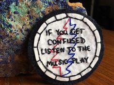 "Embroidered Grateful Dead Patch ""Franklin's Tower"" Lyrics"