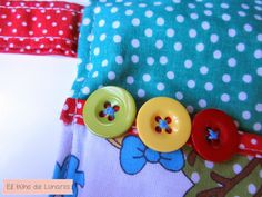 Diaper Changing Clutch Alicia in Dot's Land handmade by Pili B♥ | Funda guarda pañales Alicia en el pais de los Lunares hecha a mano por Pili B♥