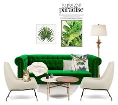 """Bliss of Paradise - Livingroom Edition"" by thisislettie ❤ liked on Polyvore featuring interior, interiors, interior design, home, home decor, interior decorating, nanimarquina, AERIN, Howard Elliott and Designers Guild"