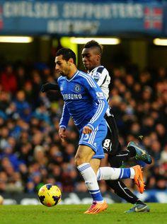 Mohamed Salah of Chelsea FC against Newcastle FC