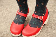 Weekly Wears by Skunkboy Creatures., via Flickr - Little Red Riding Hood tights are AMAZING!