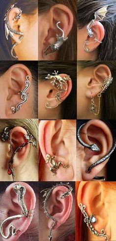 These are some amazing ear cuffs! Wish I knew where they came from.