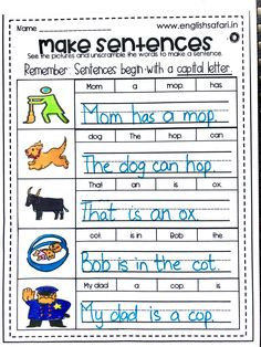 unscramble the words to form a sentence worksheet for kindergarten and first grade.