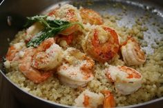 Calamansi Shrimp on Couscous for #SundaySupper