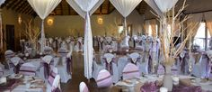 Beautiful and Memorable Weddings. Boasting a Beautiful Chapel, Mouth-Watering Cuisine, and an Idyllic Honeymoon Suite. Wedding Chair Decorations, Wedding Chairs, Lodge Wedding, Wedding Venues, Game Lodge, Honeymoon Suite, How To Memorize Things, Spa, Weddings
