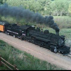 Narrow Gauge Railroad coal engine. Durango, CO