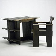 Rietveld crate desk and chair